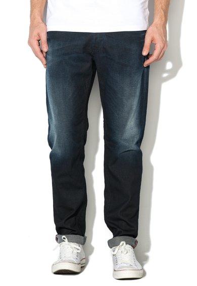 Jeansi albastru indigo decolorati Mike de la Jack&Jones