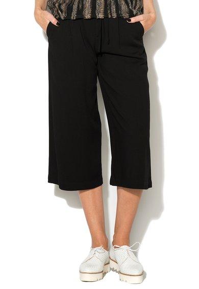 Fusta-pantalon neagra cu snur pentru ajustare de la EDC by ESPRIT