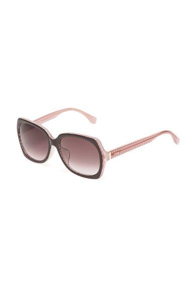 Fendi Ochelari de soare roz transparent cu maro cafea