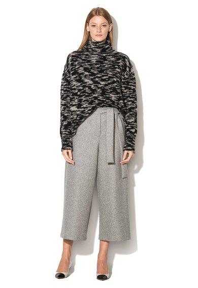 FashionDays.ro: Fusta-pantalon gri din amestec de lana Sportmax Code