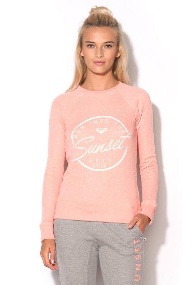 Bluza sport roz somon cu imprimeu de la Roxy
