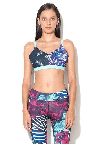 FashionDays.ro: Bustier multicolor cu imprimeu tropical Reebok