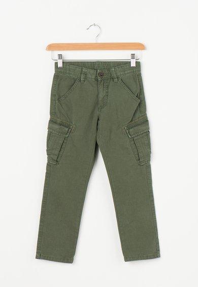 Pantaloni cargo verde veriga cu talie ajustabila United Colors Of Benetton