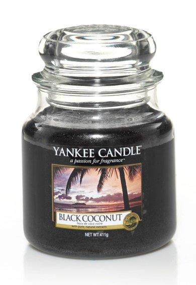 Yankee Candle Lumanare parfumata in borcan mediu Black Coconut
