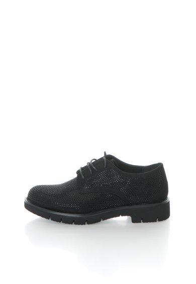 Pantofi negri cu strasuri de la Oakoui