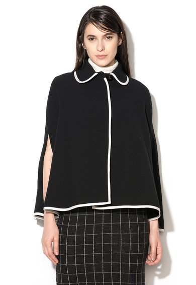 FashionDays.ro: Capa neagra din amestec cu lana virgina Aio Pennyblack