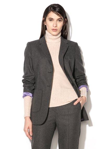 FashionDays.ro: Sacou gri din amestec de lana virgina Baciato Pennyblack