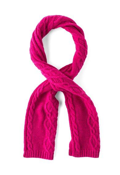 Fular violet tyrian din amestec de lana de la United Colors Of Benetton