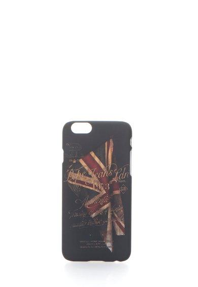 Carcasa neagra cu model steag pentru iPhone 6/6S de la Pepe Jeans London