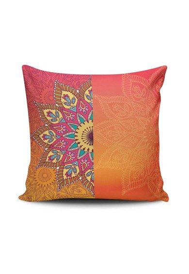 Leunelle Husa oranj pentru perna decorativa cu imprimeu Mandala