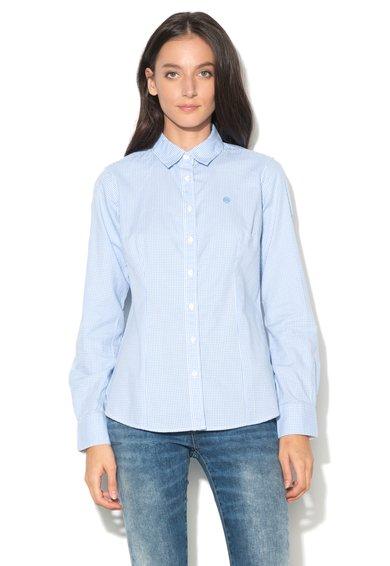 Big Star Camasa slim fit albastru lavanda cu alb cu model gingham Gastral
