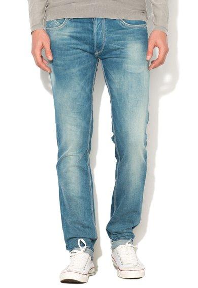 GAS Jeansi albastru decolorat cu croiala dreapta Warris