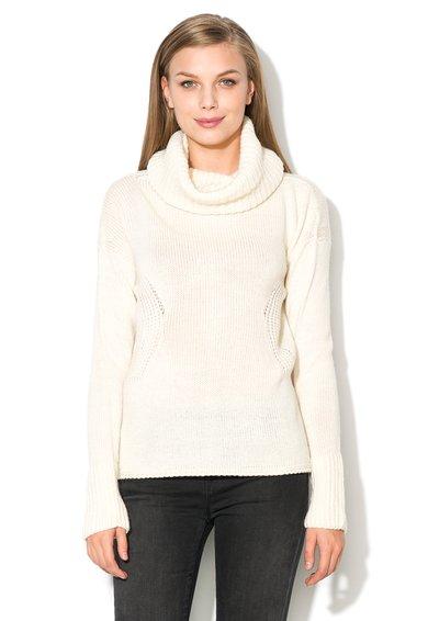 Pulover alb fildes din amestec cu lana Gabi de la GAS