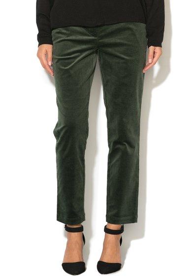 ICHI Pantaloni reiati verde inchis Farimo