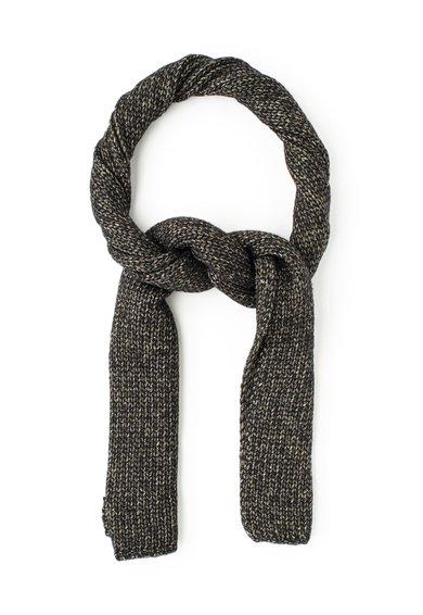 Fular negru cu auriu tricotat de la Liu Jo