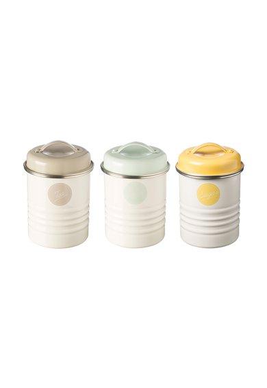 Set alb de recipiente pentru depozitare – 3 piese Typhoon