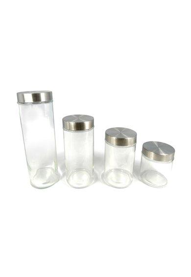 Set de borcane transparente de sticla – 4 piese de la Jocca