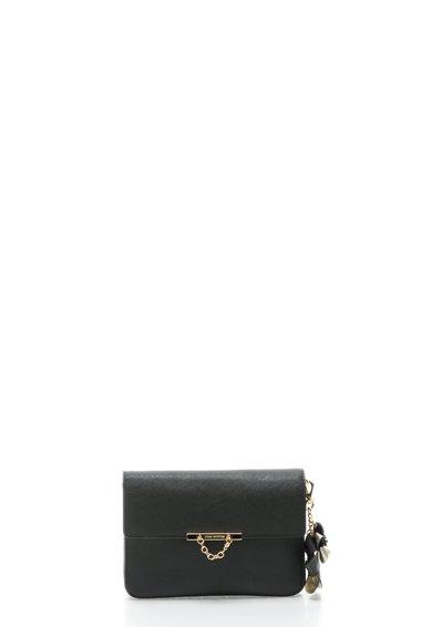 Geanta plic neagra cu textura saffiano Brentwood de la Juicy Couture