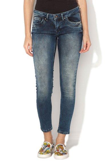 Pepe Jeans London Jeansi slim fit albastru inchis Ripple