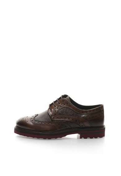 Pantofi brogue maro acaju de piele de la Zee Lane
