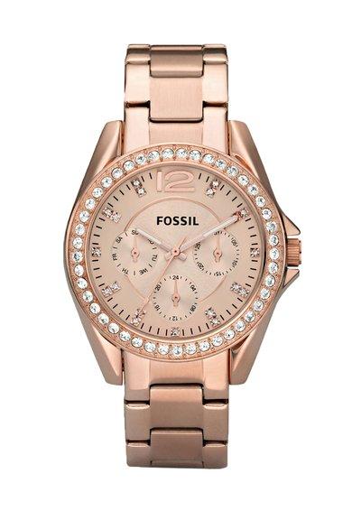 FashionDays.ro: Ceas auriu rose cu functii multiple Fossil