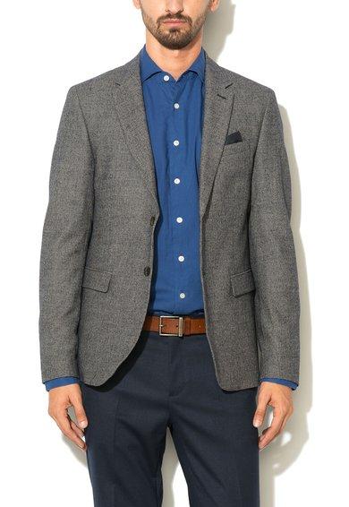 Sacou in nuante de gri din amestec de lana de la United Colors Of Benetton