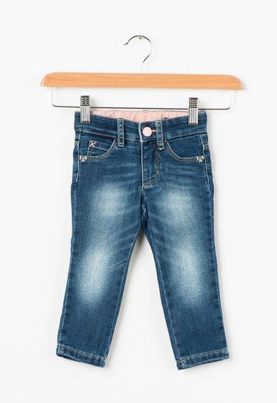 Jeansi skinny albastri din material elastic de la United Colors Of Benetton