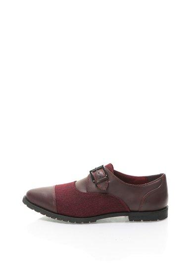 Pantofi monk rosu Bordeaux cu varf ascutit de la United Colors Of Benetton