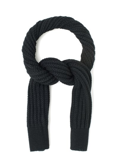 GUESS Fular negru tricotat