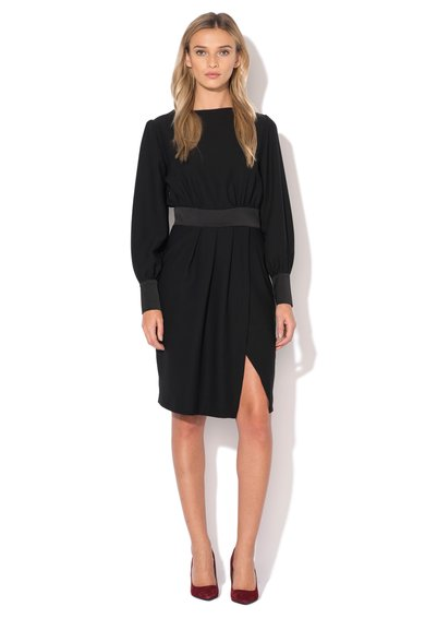 Zee Lane Collection Rochie neagra cu slit frontal