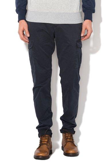 Alcott Pantaloni cargo chino slim fit albastri