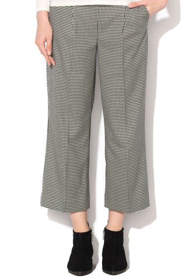FashionDays.ro: Pantaloni negru cu alb cu model houndstooth Stefanel