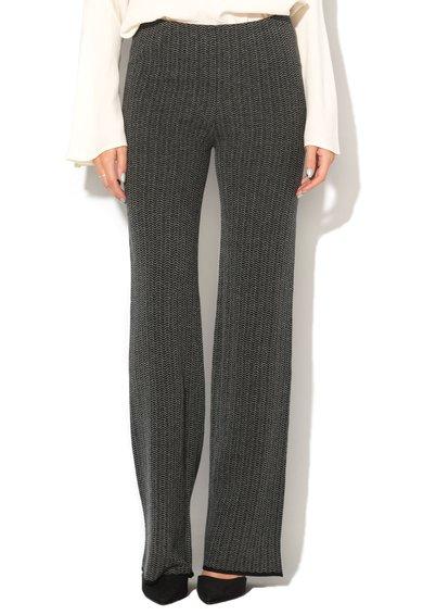 Pantaloni tricotati negru cu gri de la United Colors Of Benetton