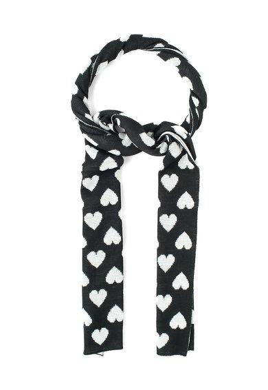 Fular negru cu alb din amestec de lana de la Moschino Cheap and Chic