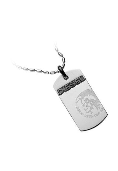 FashionDays.ro: Colier argintiu cu placuta Diesel