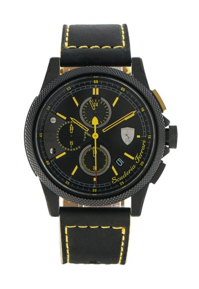 Ceas cronograf negru Formula Italia S