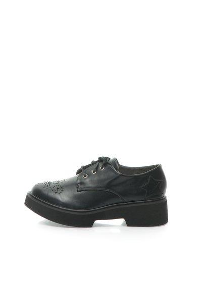 Pantofi negri cu talpa wedge de la Fiorucci