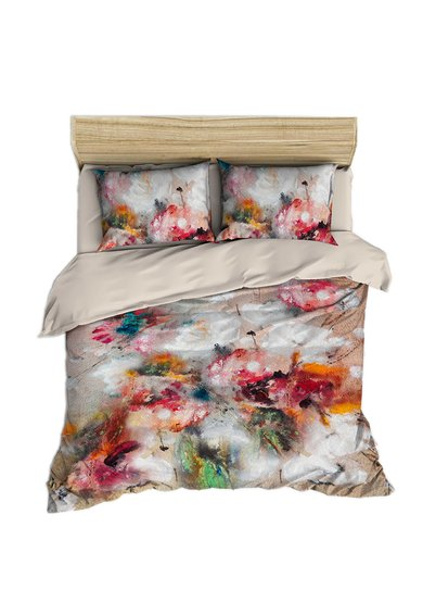 FashionDays.ro: Set de pat multicolor cu imprimeu abstract Leunelle