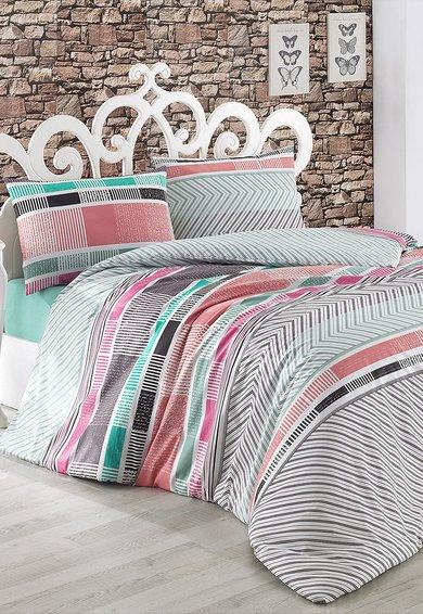 Set de pat multicolor cu model geometric de la Leunelle
