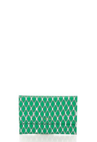 Geanta plic verde cu alb