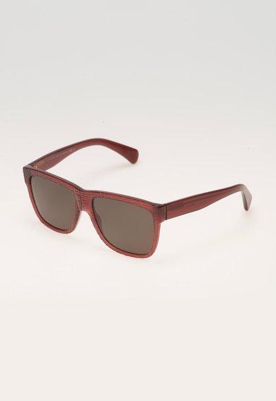 Alexander McQueen Ochelari de soare texturati rosu Bordeaux