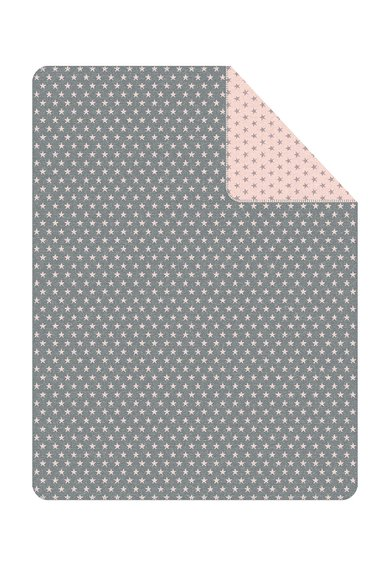 Ibena Patura gri cu roz si imprimeu cu stele Boston