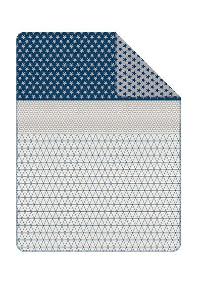 SOliver Patura bleumarin cu alb cu model cu stele si geometric