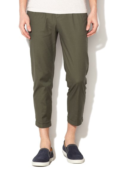 Selected Homme Pantaloni chino verde militar Forest Night