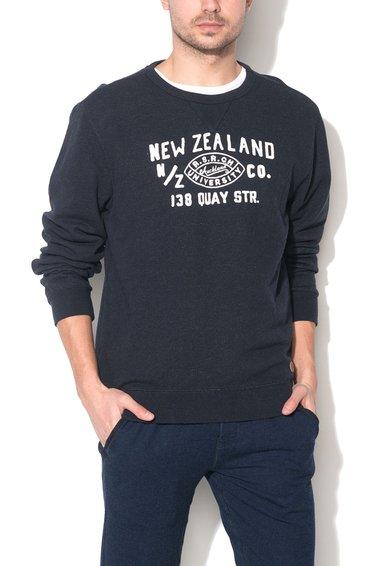 New Zealand Auckland Bluza sport bleumarin melange cu imprimeu frontal Ihungia