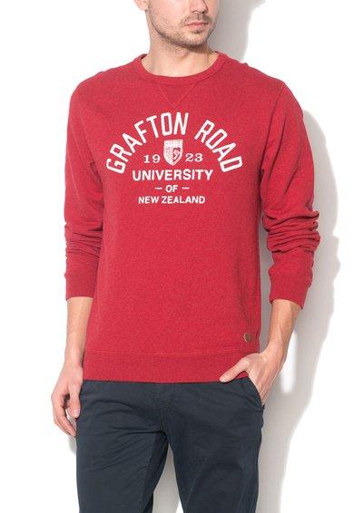 New Zealand Auckland Bluza sport rosu melange cu logo Ihungia
