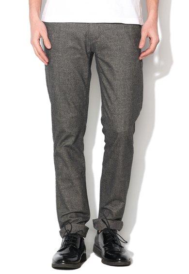 New Zealand Auckland Pantaloni chino gri inchis cu model sare si piper Gisborn