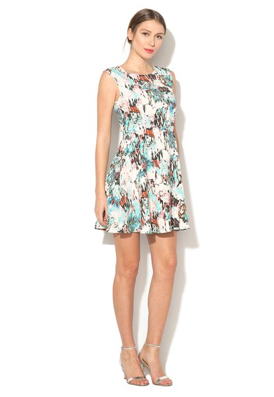 French Connection Rochie multicolora cu model abstract Isla