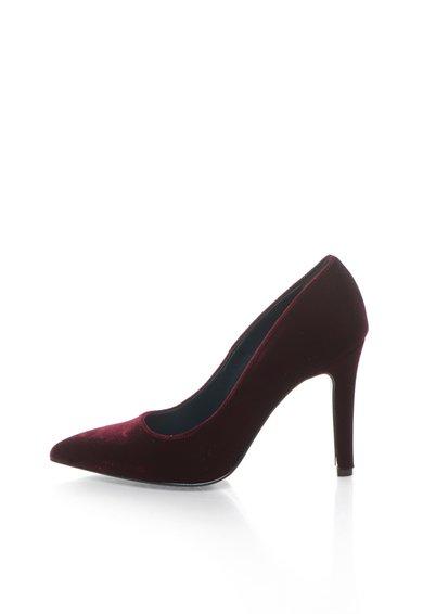 Pantofi rosu Bordeaux catifelati de la Zee Lane