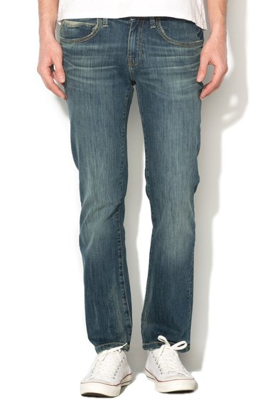 Big Star Jeansi conici slim fit albastri Bryan 387